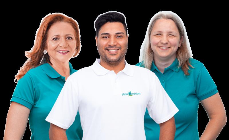Team Hausbesuch Physiotherapie Krankengymnastik